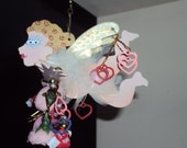 Valentine Ornament Karen Rossi Fanciful Flights CUPID with dangles