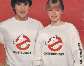 Ghostbusters Shirt Pattern With One Iron-on Transfer Chest 30 - 44 uncut   Butterick 997