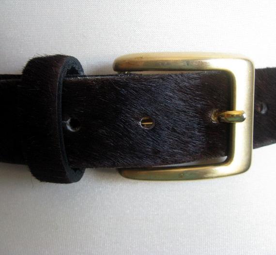 danier vintage 1980s belt brown pony hair by