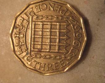 1966 United Kingdom, Three Pence