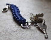 Colon Cancer Survivor Paracord Keychain in Royal Blue