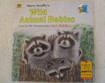 Wild Animal Babies Motts Childrens Golden Book Vintage