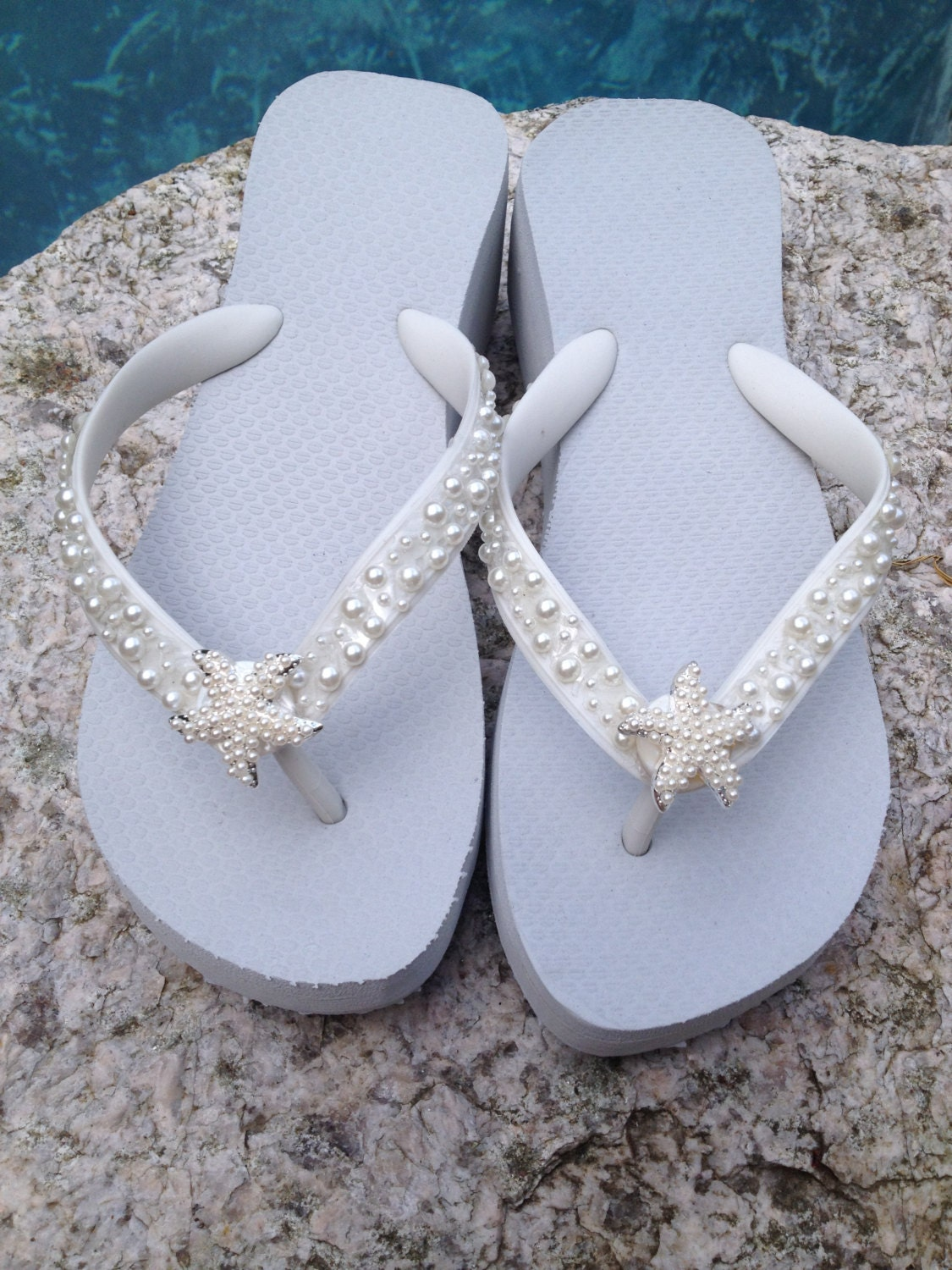 wedding flip flops wedges sandals for by rocktheflops on etsy