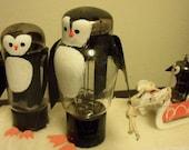 Penguin family assemblage: TV tubes