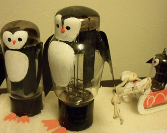 CLEARANCE-Mark-down !   Penguin family assemblage: TV tubes