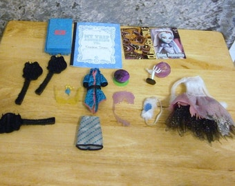 doll parts lot for scrapbooking, altered art, pattern making, etc