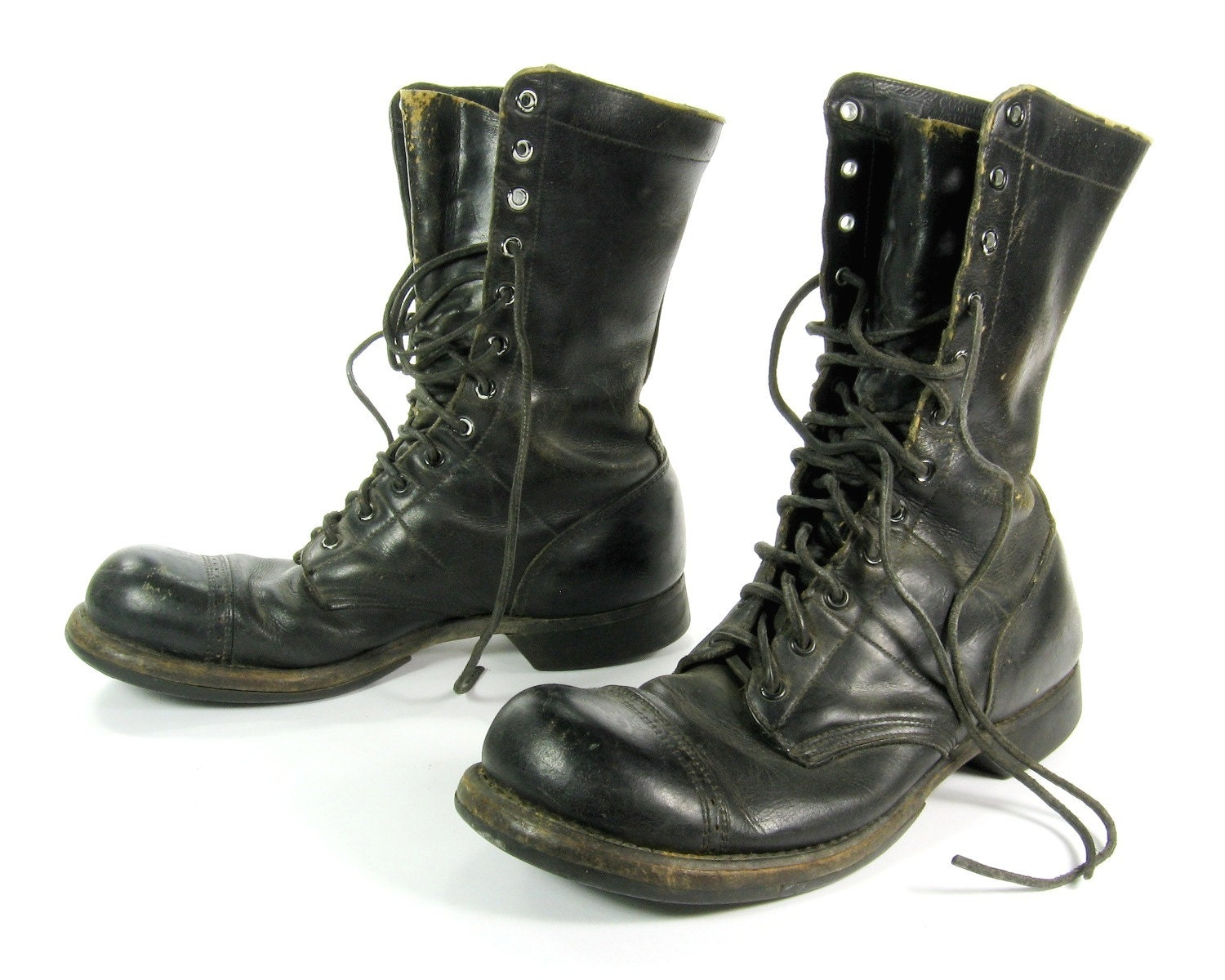 original corcoran jump boots black leather boots cap toe