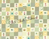 Holly Hobby Squares in Green Lecien Japan Fabric One Yard