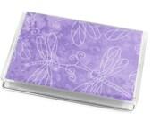 Card Case Mini Wallet Lavender Dragonfly