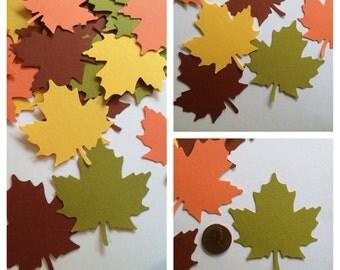30 Medium Leaves Confetti, Fall Leaf Confetti, Maple Leaf Confetti, Leaf Confetti, Leaf Placecards, Fall Placecards, Leaf Decorations
