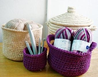 Crochet Baskets PATTERN, Home Decoration Storage Bags Pattern, Bags Crochet Pattern, 238