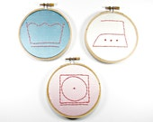 Set of 3 Laundry Room Hoop Art-Wash, Dry, and Iron