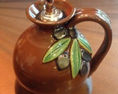 Hand Made - Wheel Thrown - Pottery Olive Oil Bottle Cruet