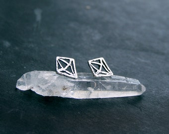 petite crystal cutout silver studs