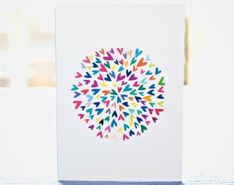 The big bang- Blank greetings card
