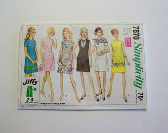 Misses' Jiffy Dress Sewing Pattern Simplicity 7670  Size 16 Women's Dress Pattern, Sewing Pattern, Vintage Pattern, Womens Clothing Pattern