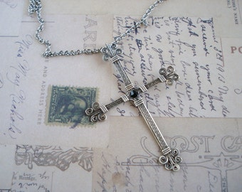 Sterling Silver Wire Wrapped Cross Free Shipping