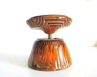 Retro California Pottery Covered Dish