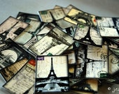 Eiffel Tower Stickers: 50 Travel Stickers, vintage postcard stickers, vintage Paris stickers, art stickers, Paris France stickers, European