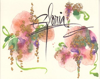 5  WATERCOLOR NOTECARDS PERSONALIZED