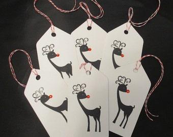 Six Reindeer Tags