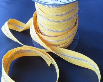 Maya Road Zipper Trim - Sunshine Yellow - Sold By The Yard