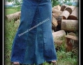 Custom to Your Size Long Jean Skirt size 0 2 4 6 8 10 12 14 16 18 20 22 24 26