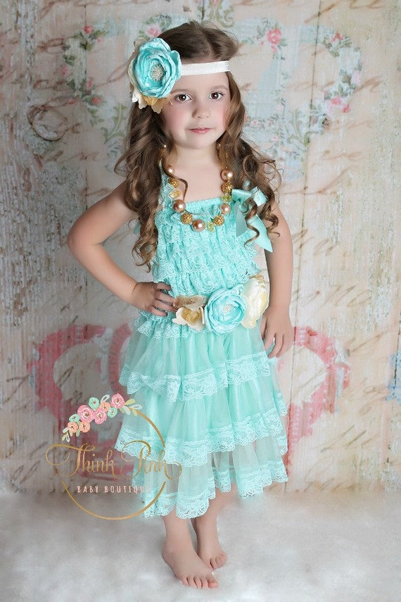 Blue flower girl dressflower girl dresses by thinkpinkbows