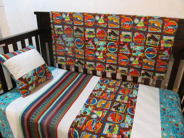 sale baby boy quilt toddler bedding crib bedding set cars. Black Bedroom Furniture Sets. Home Design Ideas