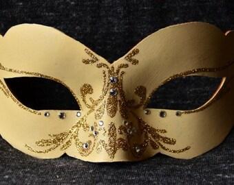 10. Venetian mask leather- swarovski rhinestones