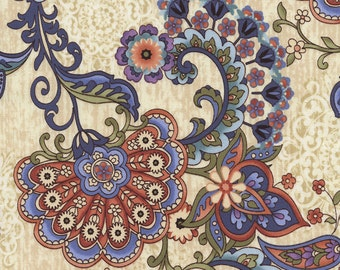 Mood Swings Jacobean  JT-C1990 Multi  - Timeless Treasures -  Cotton Quilting Fabric - By the Yard