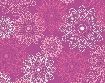 PARADISE - Pink Sparkles (Pa-201) - Art Gallery Fabric - Pat Bravo - 1 yard