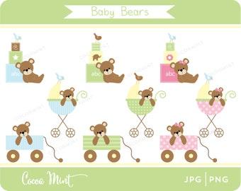 Baby Bears Clip Art