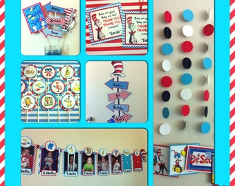 CAT in the HAT - Deluxe Birthday Party Package Set - Dr. Seuss