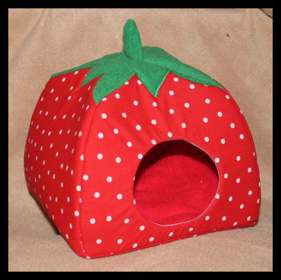 Small Strawberry Soft And Cozy Critter Hut By