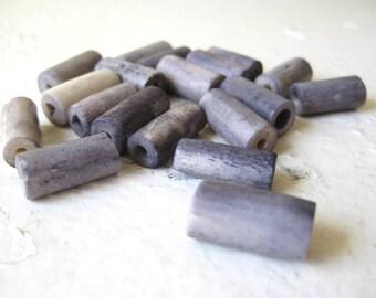 Lavender Ceramic Cylinder Bead Lot