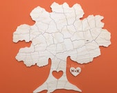 Custom 80 piece TREE Puzzle Wedding Guest Book Alternative by BELLA PUZZLES