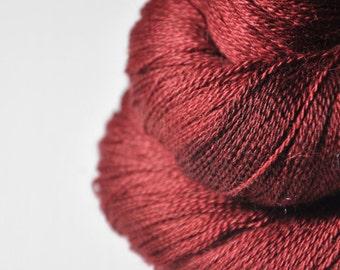 Burning terracotta OOAK - BabyAlpaca/Silk Lace Yarn