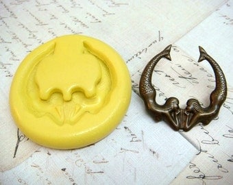 SIRENS / MERMAIDS of the Sea - Flexible Silicone Mold - Push Mold, Polymer Clay Mold, Pmc Mold, Resin Mold
