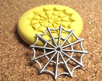 Spider Web (large) - Flexible Silicone Mold - Jewelry Mold, Polymer Clay Mold, Resin Mold, Craft Mold, PMC Mold