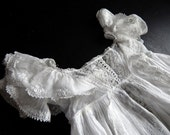 RESERVED FOR JEANNE Museum Quality Antique Ayrshire Christening Gown Exceptional Embroidery
