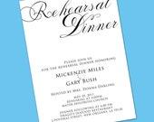 Simplicity Rehearsal Dinner Invitation - Printed Invitations or Printable Files