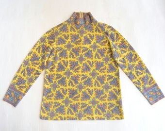 Yellow Knit Shirt Rodier made in France