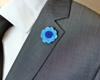 Felt daisy flower lapel pin, Mens lapel flower Boutonniere, Wool Felt Lapel Flower pin, rose boutonniere, flower lapel pin, mens gift,