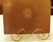 FOR LESLIE   Very Rare Antique John Widdicomb Co Furniture Catalog Embossed Initials Linen Book