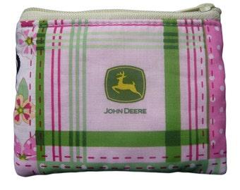 John Deere Pink Coin Bag