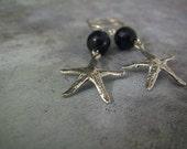 Starfish Earrings | Nautical Earrings | Navy Blue Jade Earrings | Beach Ocean Summer Jewelry