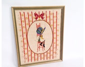 Crewel Holly Hobbie Picture