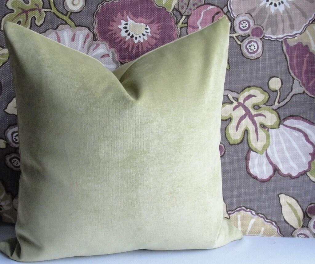 Moss Green VELVET Pillow Cover Decorative Pillow Cover BOTH