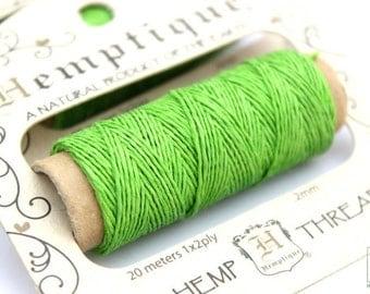 Thin Hemp Thread, Green o.2mm Hemp Cord